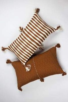 Archive New York Antigua Pillow - Umber Stripe Made Trade Archive New York Antigua Pillow - Umber Stripe Made Trade Click The Link For See Lumbar Pillow, Throw Pillows, Organic Duvet Covers, Guatemalan Textiles, Bohemian Bedding, Bed Linen Design, Colorful Pillows, Weaving Techniques, Home Living