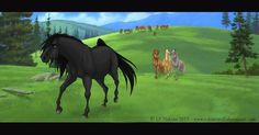 Strider and Esperanza fan art. The background is from Dreamworks. Spirit The Horse, Spirit And Rain, Dreamworks, Horse Movies, Spirited Art, Funny Dog Memes, Striders, Horse Drawings, Horse Art