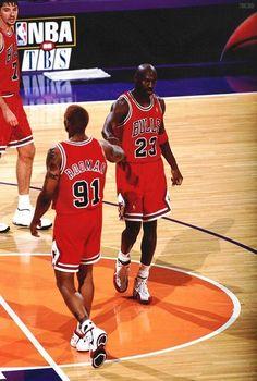 Michael Jordan Dennis Rodman Chicago Bulls Tony Kukoc