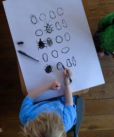 Käfer-Bild mit Anleitung - malen mit Kindern