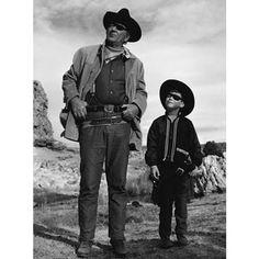John Wayne and his son Ethan.