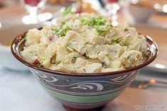Potet og eplesalat – nytes best al fresco Fresco, Potato Salad, Food And Drink, Potatoes, Ethnic Recipes, Roast Beef, Fresh, Potato