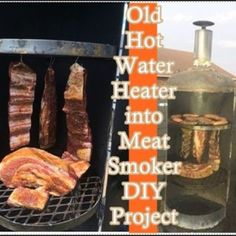 """Old Hot Water Heater into Meat Smoker DIY Project - Homesteading This """"Old Hot Water Heater into Meat Smoker DIY Project"""" do it yourself article was Natural Cleaning Recipes, Natural Cleaning Products, Home Smoker, Outdoor Projects, Diy Projects, Diy Heater, Tiny Farm, Outdoor Sheds, Homestead Survival"""