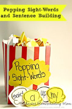 Pop, Pop, Pop your way to sight-words and sentence building fun in this hands on game for kids!