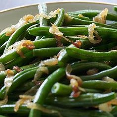 Green Beans with Caramelized Sweet Onions