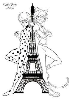 Ladybug and Cat Noir coloring pages. Print for free - Ladybug and Cat Noir coloring pages. Lady Bug, Ladybug Coloring Page, Coloring Books, Coloring Pages, Ladybug Und Cat Noir, My Little Pony Coloring, Unicorn Wall Art, Troll Party, Miraclous Ladybug