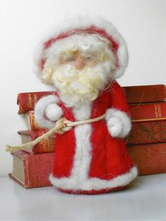SANTA CLAUS Father Christmas Needle Felted