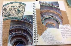 Rebekah Gibb A2 textiles unit 3 CNC college Sketchbook Layout, Textiles Sketchbook, Sketchbook Pages, Sketchbook Ideas, Sketchbook Inspiration, A Level Textiles, Architecture Sketchbook, Personal Investigation, Drawing Projects