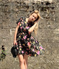 outfit vestito a fiori fashion blogger basse theFashiondiet Oasap peonie