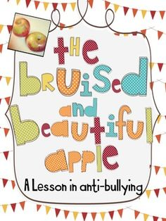 A Lesson in Anti-Bullying: The Bruised and Beautiful Apples Anti Bullying Lessons, Anti Bullying Week, Effects Of Bullying, Anti Bullying Activities, Apple Activities, Counseling Activities, Group Activities, Elementary School Counseling, School Social Work