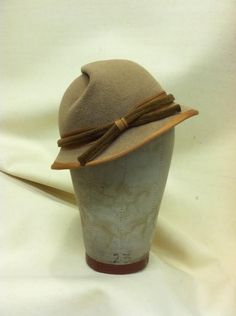 Grace pinch crown front view-Millinery by Denise Wallace-Spriggs