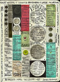 Art Journaling - love the segmented text and color blocking