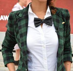 Bow ties were trending at this season's London Fashion Week #LFW   Mint Velvet