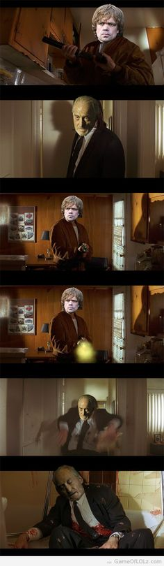 "Say ""Whore"" again, I dare ya! #gameofthrones #tyrionlannister"