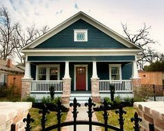 blue Craftsman Style Homes   blue Craftsman style house-interior and exterior pics-wonderful!