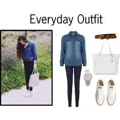 A fashion look from April 2013 featuring blue shirt, Juicy Couture and lace up flats. Browse and shop related looks. Red Flats, Low Rise Skinny Jeans, Everyday Outfits, Fashion Looks, Beautiful Body, Shoe Bag, My Style, Body Art, Polyvore