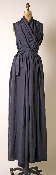 Madame Grès silk evening gown, 1970's