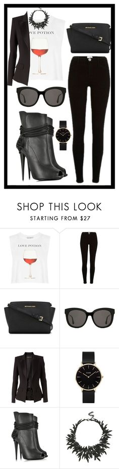 """""""Untitled #422"""" by rockinstyles ❤ liked on Polyvore featuring Wildfox, River Island, MICHAEL Michael Kors, Gentle Monster, Alexandre Vauthier, CLUSE, Giuseppe Zanotti and Eye Candy"""