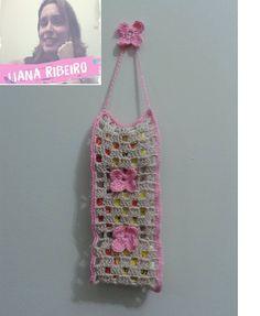 Porta caixas de fósforos, Parte final #crochet #crochetfilet #portacaixasdefosforos