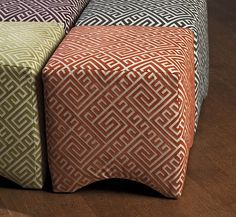 IMAX Marisa Graphic Ottoman - Orange - Made in the USA. Merging fashionable upholstery and timeless design, this collection of quality furniture is made by skilled craftsmen and is an essential for any home or office. Made of U.S. and imported parts.