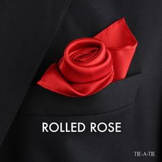 Get Your Perfect Rolled Rose fold with Pocket Square Holder! Buy Here>> https://www.amazon.co.uk/dp/B01MTQU0EX