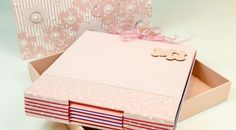 Como Fazer a Costura Longstitch Album Scrapbook, Bookbinding, Mini Albums, Book Art, Decorative Boxes, Notebook, Gift Wrapping, Lettering, Crafts