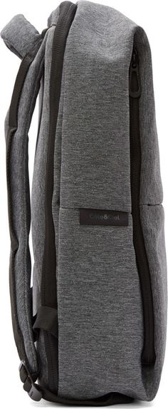 Côte & Ciel Black & Grey Rhine New Flat Backpack