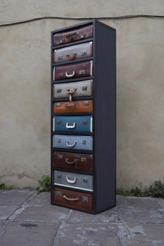 inspiration: The perfect purpose for vintage suitcases: repurpose them as uniquely awesome drawers!