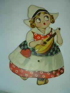Vintage 1920-30 Valentine Dutch Girl Rotating Feet $12.99