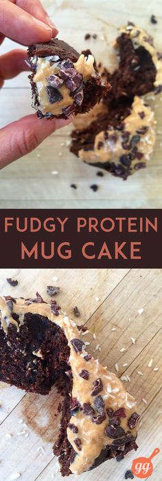 Fudgy Protein Mug Cake (dairy-free, grain-free)   GrokGrub.com #healthy
