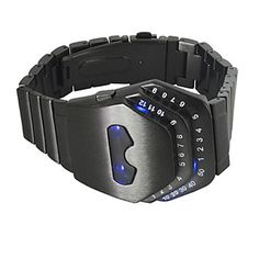 Luxury Men's Black Stainless Steel Date Digital LED Watch Bracelet Sport Watches Fashion Watch 5068877 2017 – $13.59