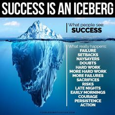 "Fearless Motivation on Twitter: ""Success is an iceberg:… """