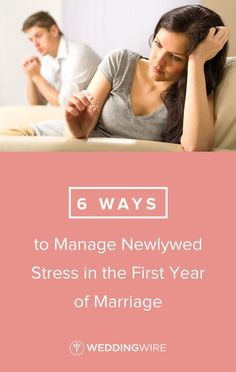 6 Ways to Manage Newlywed Stress in the First Year of Marriage - Your first year of marriage can be stressful! From open communication to creating boundaries, read a few tips experts have on WeddingWire! First Year Of Marriage, After Marriage, Marriage And Family, Wedding Advice, Post Wedding, Wedding Planning, Dating Coach, Wedding Etiquette, Relationship Coach