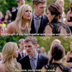 """I freaking love how klaus always calls Caroline love """