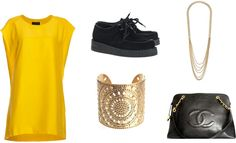 """amarelão"" by beearafaela on Polyvore"