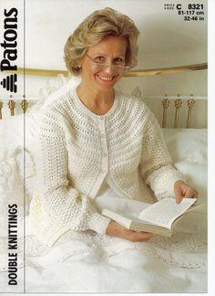 womens bedjacket knitting pattern ladies bed jacket by Hobohooks