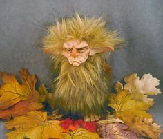 OOaK Polymer Clay Tantrum Troll Art Doll Fairy Sculpture Oddfae