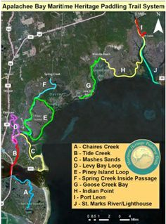 Apalachee Bay Maritime Heritage Paddling Trail System  Be transported to a different time and place as you paddle Apalachee Bay's Ten Maritime Heritage Trails. Designed for enthusiasts of all levels, enjoy fishing, wildlife viewing, and photography as you explore one of Florida's last great bays, its inlets, rivers, and springs.