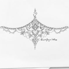 Flip for a lower back tattoo Mandala Sternum tattoo by Olivia Fayne tattoo Neue Tattoos, Body Art Tattoos, Tattoo Drawings, Small Tattoos, Temporary Tattoos, Flower Tattoos, Pretty Tattoos, Beautiful Tattoos, Cool Tattoos