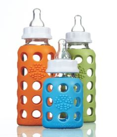 Glass Baby Bottle with Silicone Sleeve