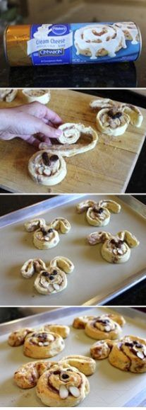 Easter-food ideas-How to make Cinnamon Bun Bunnies