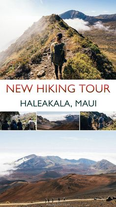 This new and fully-permitted Haleakala hiking tour takes you on 2 trails for a full day or views most don't get to see. Meet in central Maui and our expert guides will take it from there. Ascend 10,023 feet to the summit of the mountain, take in the views, and then hike down into the crater where the terrain is like none you have ever seen. Breakfast, lunch, snacks and water are provided on this 7 hour tour. #haleakala #maui #hawaii #hiking #mauihiking #volcano Travel Pics, Usa Travel, Maui Hawaii, Hawaii Travel, Hiking Tours, Get Outdoors, Travel Activities, Lunch Snacks, United States Travel