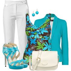 Neon Blazer, created by cnh92 on Polyvore