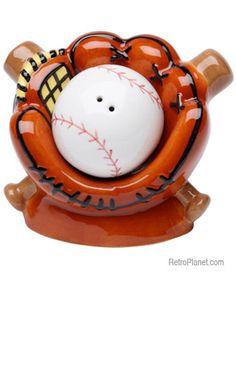 Baseball Salt and Pepper Shakers