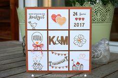 Stoff und Stempel / Hochzeitskarte / Stampin'Up!