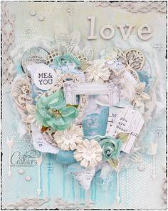 """Julia Ost handmade: Холст """"Сердце"""" и Текстильные открытки к дню влюбленных для CraftStory!"""