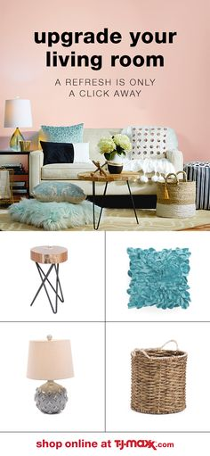 Shop tjmaxx.com for easy chic updates for your home! Make any room feel like new with fresh wall art and accent furniture at prices you'll love. And add your personality to your space with bold pillows, throws, rugs & more.