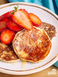 """BANANA PANCAKE RECIPE - """"The mashed banana in these pancakes isn't just for flavor – although the banana flavor definitely comes through. The mashed banana actually works with the egg and the little bit of coconut flour you use to create that traditional pancake consistency. So don't leave out the bananas!"""""""