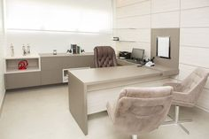 5 Home Office Decorating Ideas Office Cabin Design, Small Office Design, Office Furniture Design, Office Designs, Medical Office Interior, Medical Office Design, Doctors Office Decor, Dental Office Decor, Doctor Office