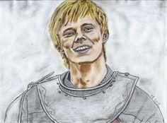 Bradley James as Arthur by Vanessafari - #BradleyJames in #BBCMerlin by #Vanessafari. More drawings at vanessafari.com